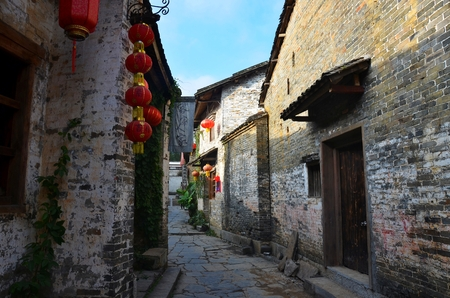 clan: The Qin clan ancient village in Guangxi province in China. Stock Photo
