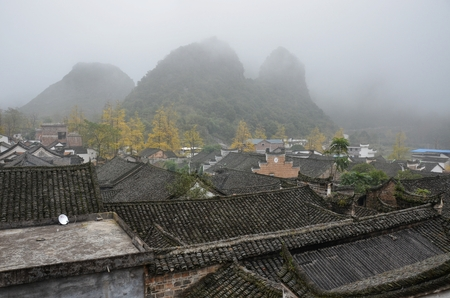 clan: The Qin clan ancient village in Guangxi province in China. Editorial