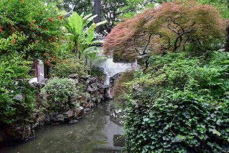 Inside the Yu Garden in Shanghai.