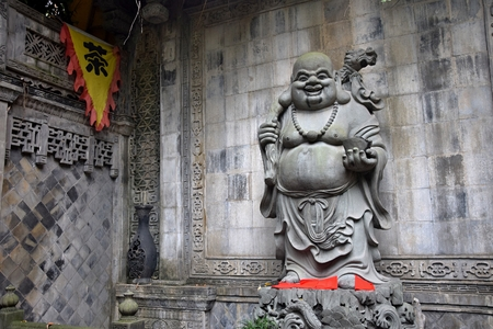 The Buddha statue in the Luohan temple in Chongqing, China.