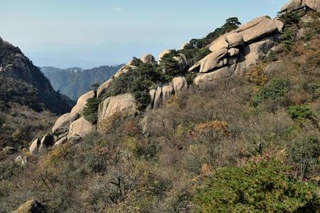 Mount Jiuhua, Nine Glorious Mountains in Anhui Province in China. Reklamní fotografie