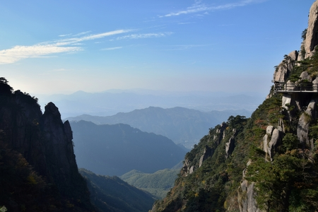 Mount Jiuhua, Nine Glorious Mountains, is one of the four sacred mountains of Chinese Buddhism located in Qingyang County in Anhui Province in China.