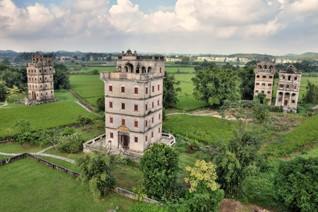 The Kaiping Diaolou (watchtowers) in Guangdong Province in China