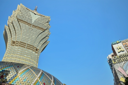 Casino Lisboa, one of the oldest and most famous casinos in Macau.