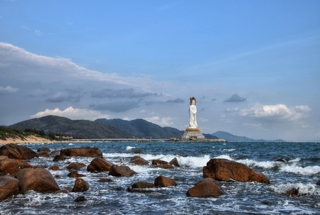 The Guanyin of the South Sea of ??Sanya in Chinas Hainan Province.