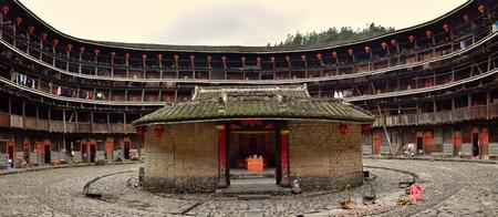 FUJIAN PROVINCE, CHINA - CIRCA MAY 2016: The Fujian tulou, the chinese rural dwelling unique to the Hakka minority in Fujian province. Editorial