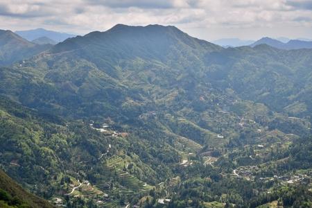The Mountain landscape of Guizhou province in China. 版權商用圖片