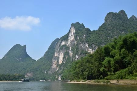 The area around Yangshuo in Guangxi Zhuang Autonomous Region 版權商用圖片