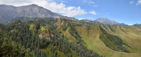 Picturesque nature of Mati mountain in Gansu province in China.