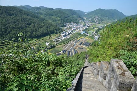 Southern Great Wall of China is located close to Huangsiqiao ancient town, about 10 km away from Fenghuang County in Hunan province in China.