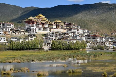 Songzanlin Monastery, the largest Tibetan Buddhism monastery in Yunnan Province in China.