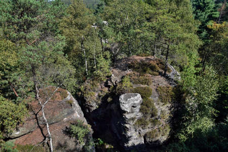 The Tisa Rocks or Tisa Walls are a well-known group of rocks in the western Bohemian Switzerland. The region, with its rock pillars up to 30 m high are protected as a national nature reserve.