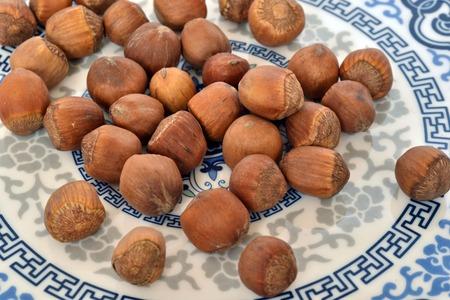 fruitage: hazelnut Stock Photo