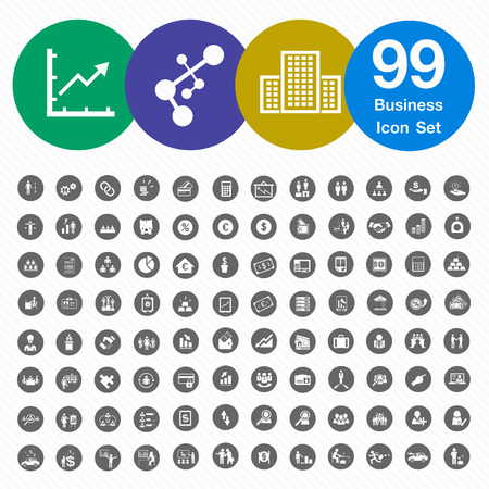 99 Business Icons Set 1 Vector