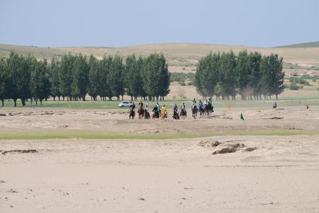 mongolia horse: Herdsmen in Inner Mongolia horse