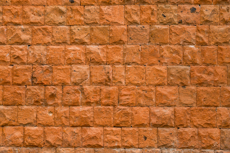 parallelism: Wall of red stone, texture, background