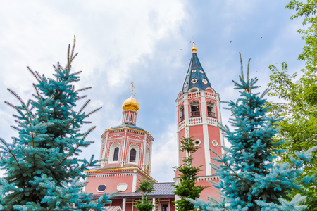 Holy Trinity Cathedral. Russia, Saratov city. Monument of architecture of the 18th century.