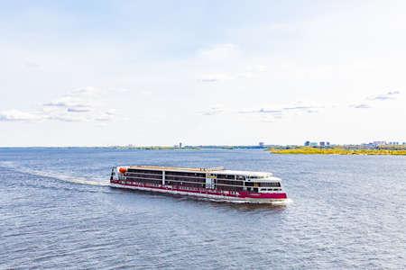 Saratov / Russia - September 21, 2020: The new luxury motor ship