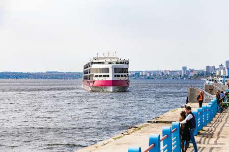 Saratov, Russia - September 21, 2020: The river cruise ship