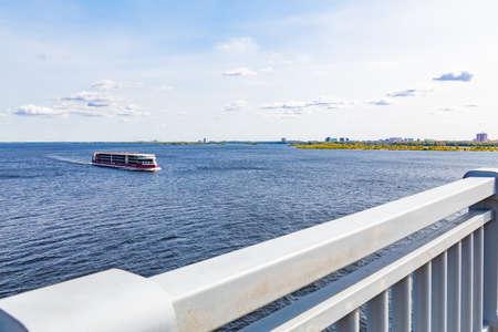 Saratov, Russia, September 21, 2020: The modern cruise ship