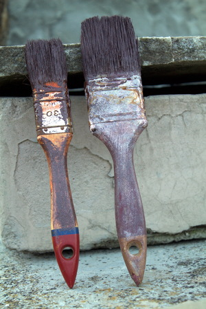 dirty: Dirty paintbrushes