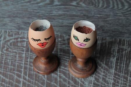 berros: Las cáscaras de huevo con semillas de amapola y berros
