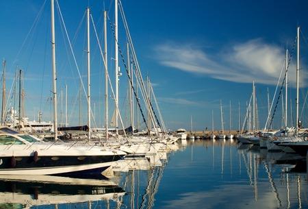 sanremo: detail of Sanremo harbor, Italy