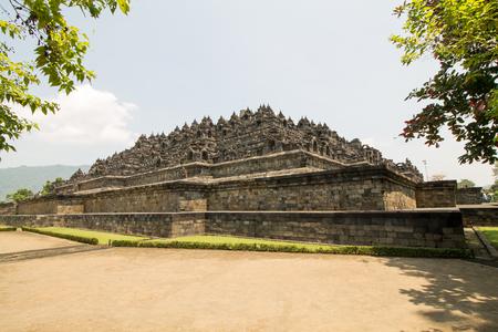 Borobudur temple in the morning daylight, near Yogyakarta on Java island, Indonesia Editorial