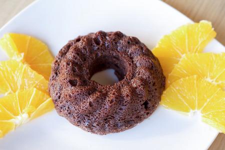 gateau: cocoa souffle close up