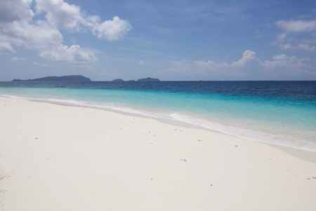 the color of the sea near a beautiful atoll in raja ampat archipelago, spectacular reef 스톡 콘텐츠