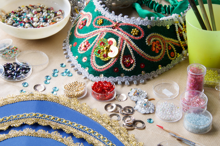 russian folk tiara and material to make one at home