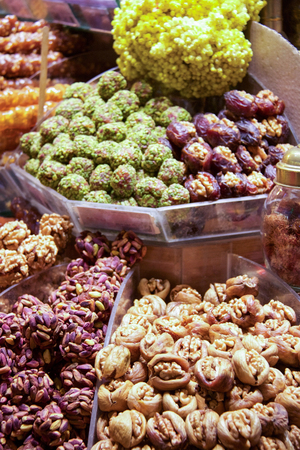 very good dried fruit desserts expositions in istanbul bazaar