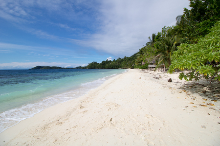 beautiful and isolated beach in raja ampat archipelago, west papua