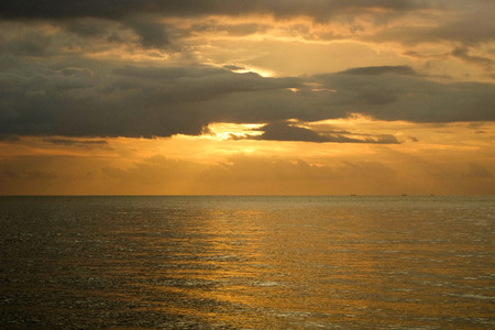 relaxing sunset over the sea in raja ampat archipelago, west papua