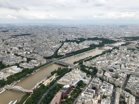 aerial view of the city of Paris from the eiffel tower, european capital
