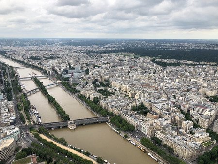 aerial cityscape of the france capital, Paris, europe Stock Photo