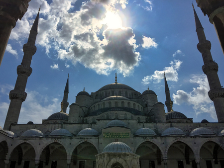 amazing view of aya sofia mosque in  summer, Istanbul