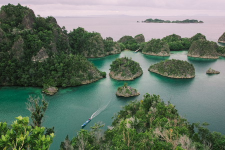 typical landscape from a viewpoint in piaynemo island, west papua