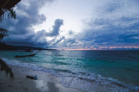 tropical sea landscape stormy weather, west papua
