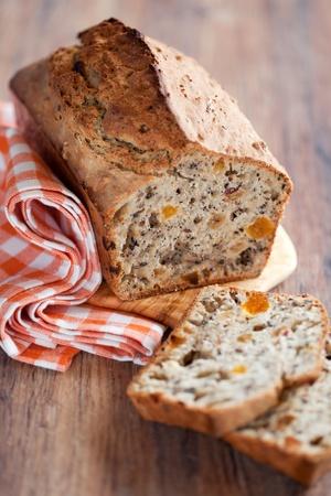 bread soda: Grain Irish soda bread, selective focus