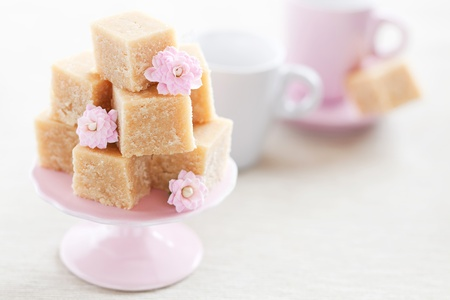 Honey, rose water and flour halva (Armenian cuisine), selective focus  版權商用圖片