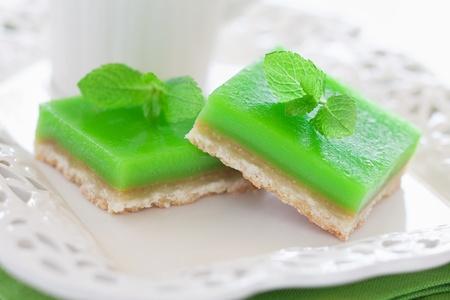 Lime mint tart, selective focus  photo