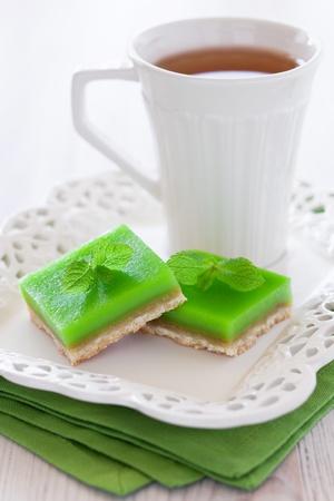 Lime mint tart, selective focus Stock Photo - 13523728