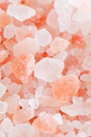 Pink himalayan salt, selective focus