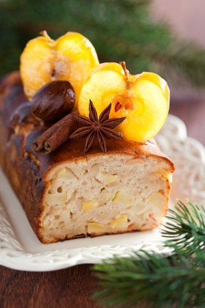 Apple loaf cake, selective focus Stock Photo - 15840014