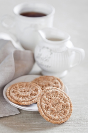 Homemade oat bran cookies, selective focus Stock Photo - 16918634
