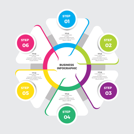 Business and Markering Infographic Template Design