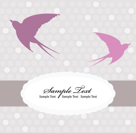 Card with swallow Stock Vector - 9087407