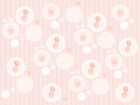 Cute poodle pattern Vector