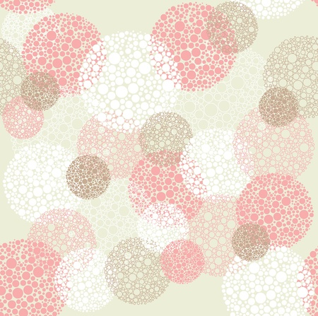 round dot: Abstract seamless pattern Illustration